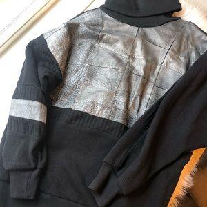 Vintage Zana Turkish leather snakeskin sweater